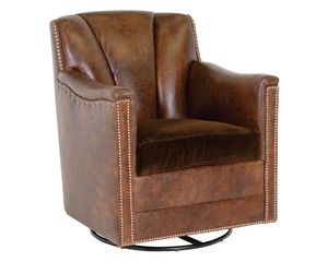 Thumbnail of Classic Leather - Lombard Swivel Glider