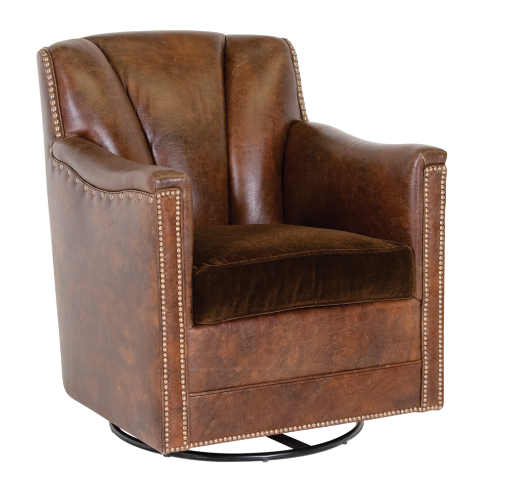 Classic Leather - Lombard Swivel Glider