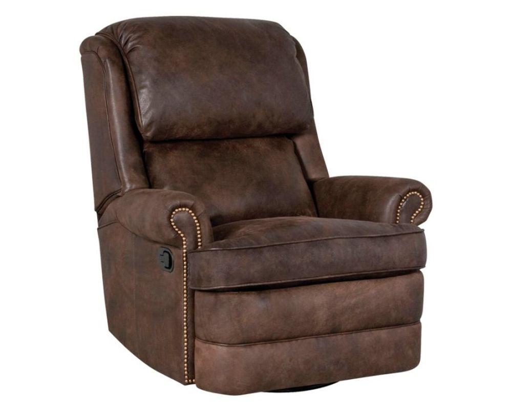 Classic Leather - Chesapeake Box Cushion Swivel Glider Recliner