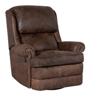 Thumbnail of Classic Leather - Chesapeake Box Cushion Swivel Glider Recliner