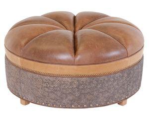 Thumbnail of Classic Leather - Candice Ottoman