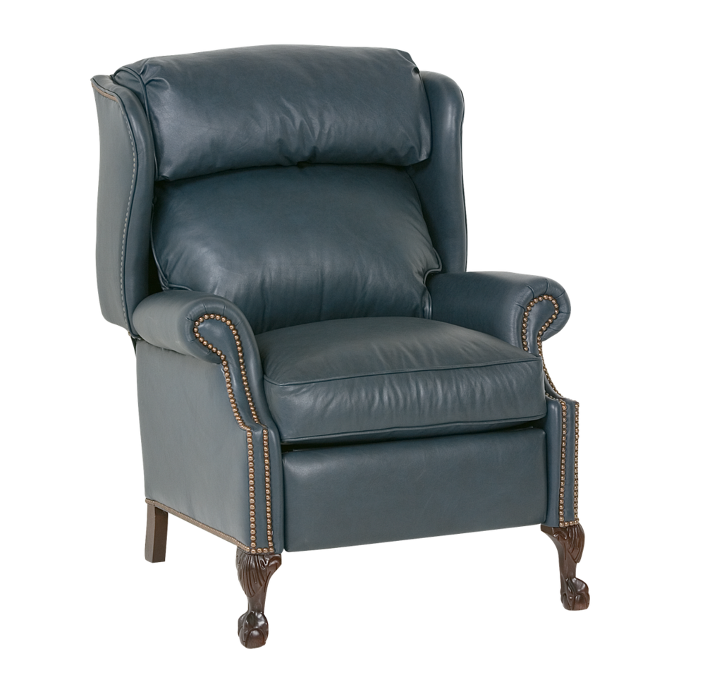 Classic Leather - Ball and Claw High Leg Recliner
