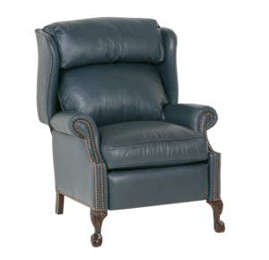 Thumbnail of Classic Leather - Ball and Claw High Leg Recliner