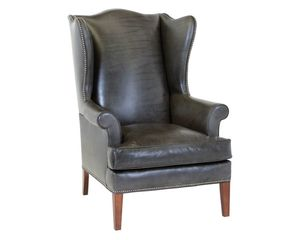Thumbnail of Classic Leather - Paige Wing Chair