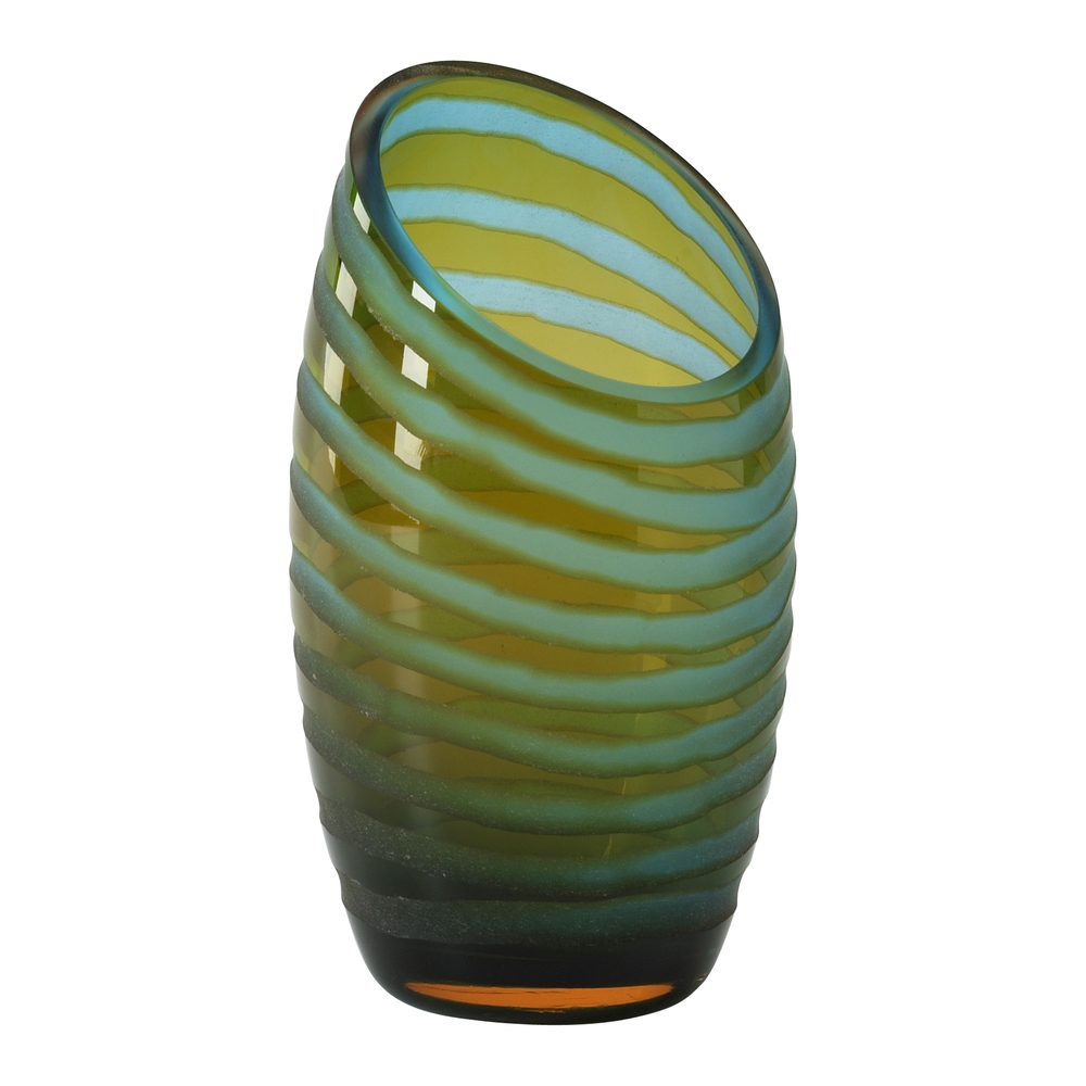 Cyan Designs - Small Angle Cut Chiseled Vase