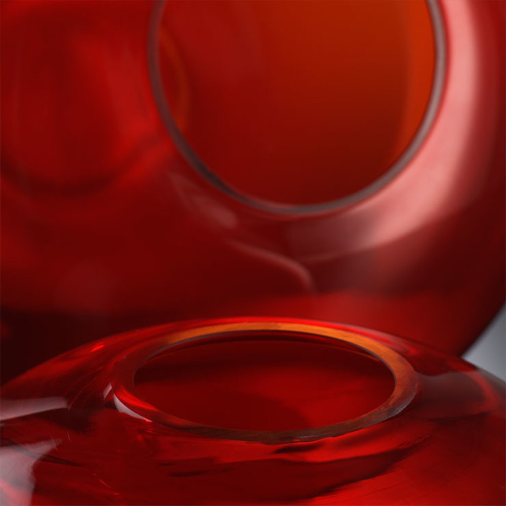 Cyan Designs - Small Red Pod Vase