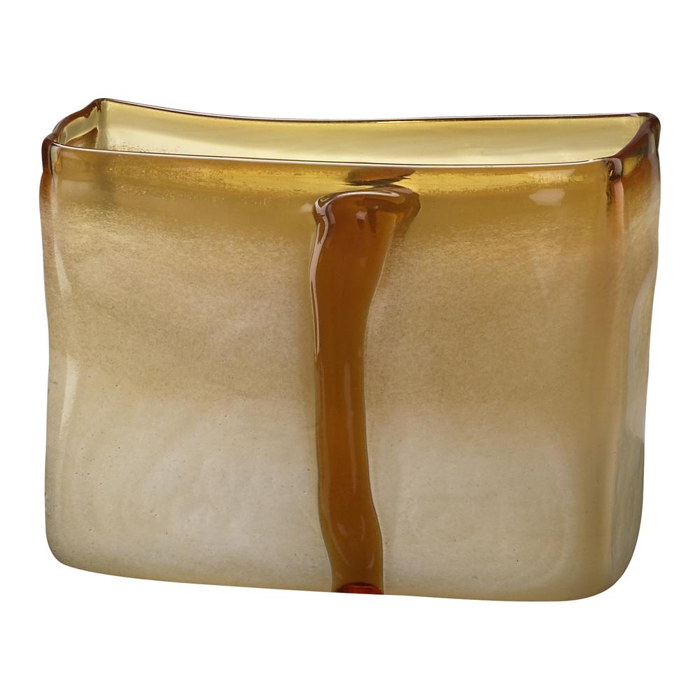 Cyan Designs - Small Cream and Cognac Vase