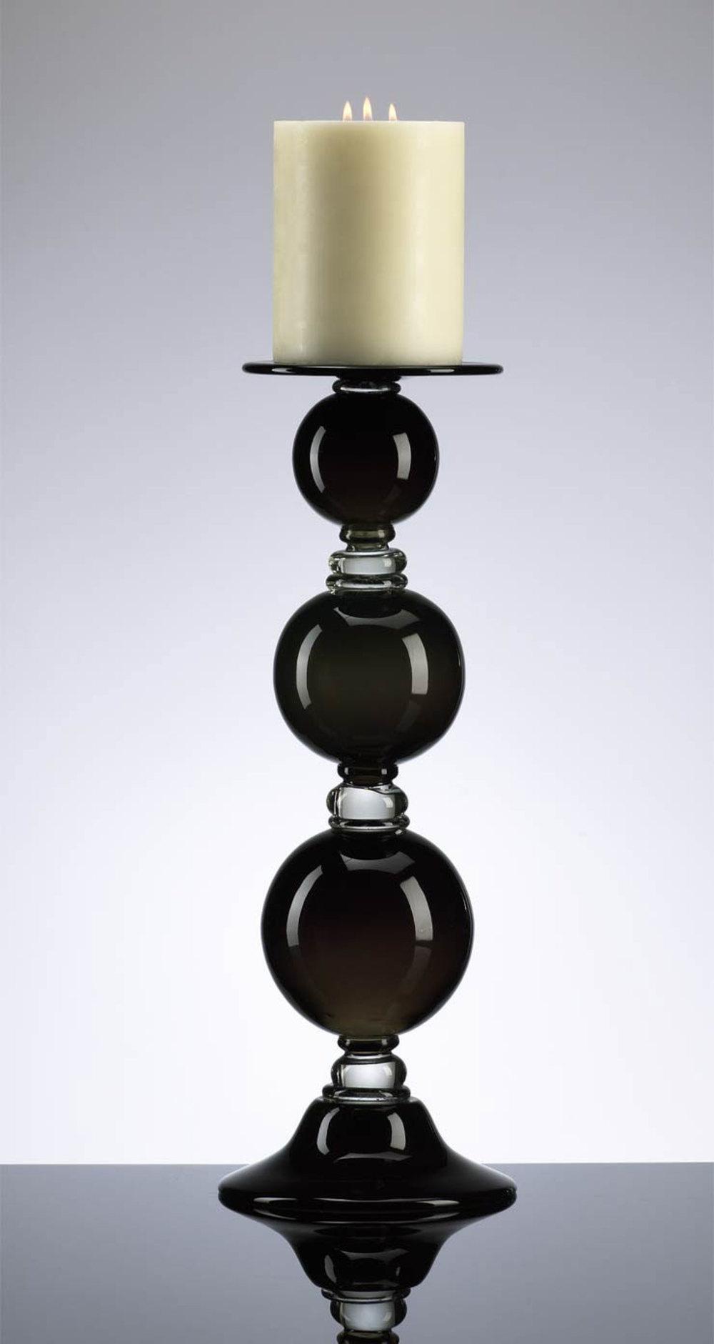 Cyan Designs - Medium Black Globe Candleholder