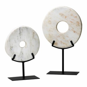 Thumbnail of Cyan Designs - Small White Disk on Stand
