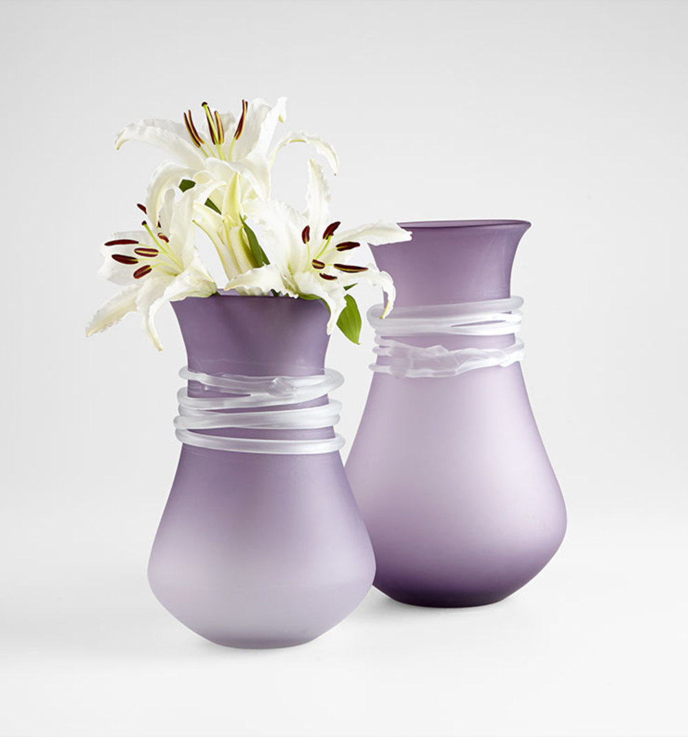 Cyan Designs - Small Purple Rain Vase
