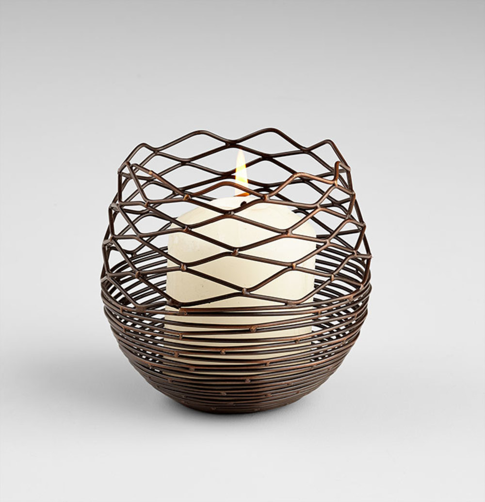 Cyan Designs - Small Coiled Silk Candleholder