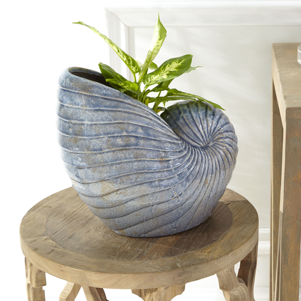 CYAN DESIGN - Small Rippled Shell Vase