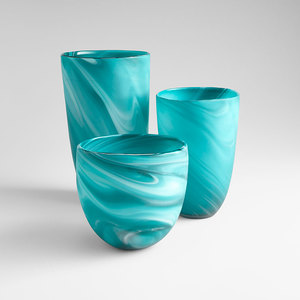 Thumbnail of Cyan Designs - Round Sea Swirl Vase