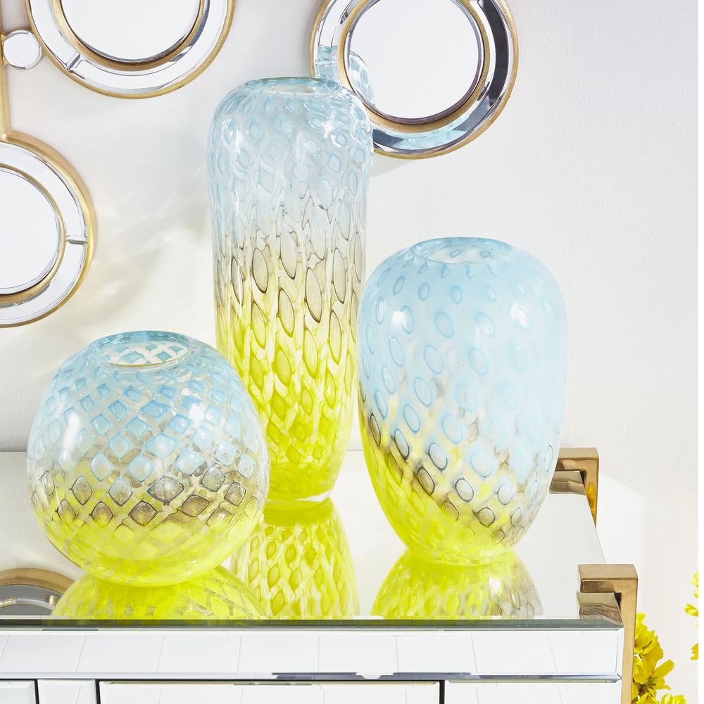 Cyan Designs - Round Honeycomb Vase