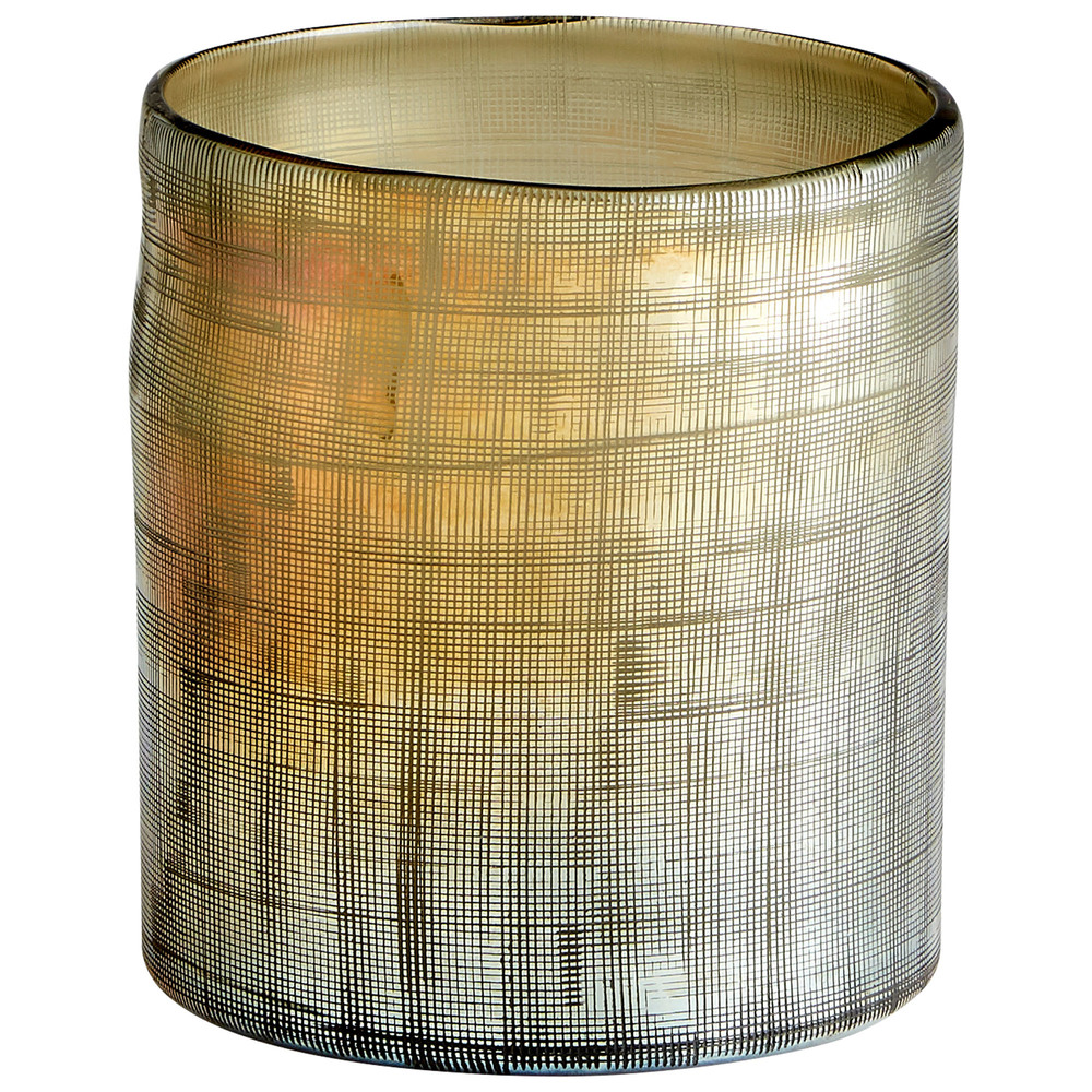 Cyan Designs - Small Gilded Grid Vase
