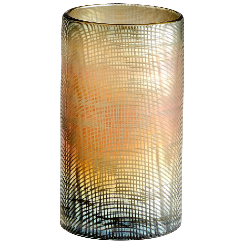 Cyan Designs - Medium Gilded Grid Vase