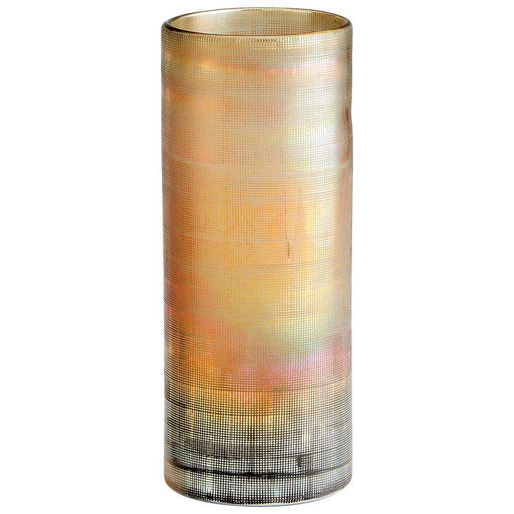 Cyan Designs - Large Gilded Grid Vase