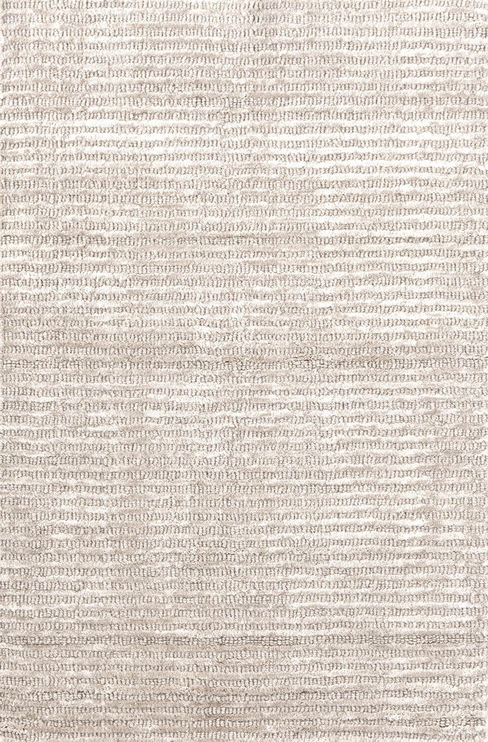 Dash & Albert Rug Company - Cut Stripe Ivory Viscose Rug 8x10