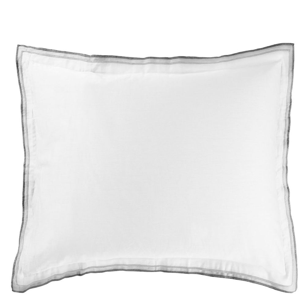 Designers Guild - Astor Charcoal & Dove Standard Pillowcase