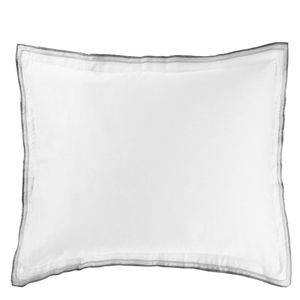 Thumbnail of Designers Guild - Astor Charcoal & Dove Standard Pillowcase