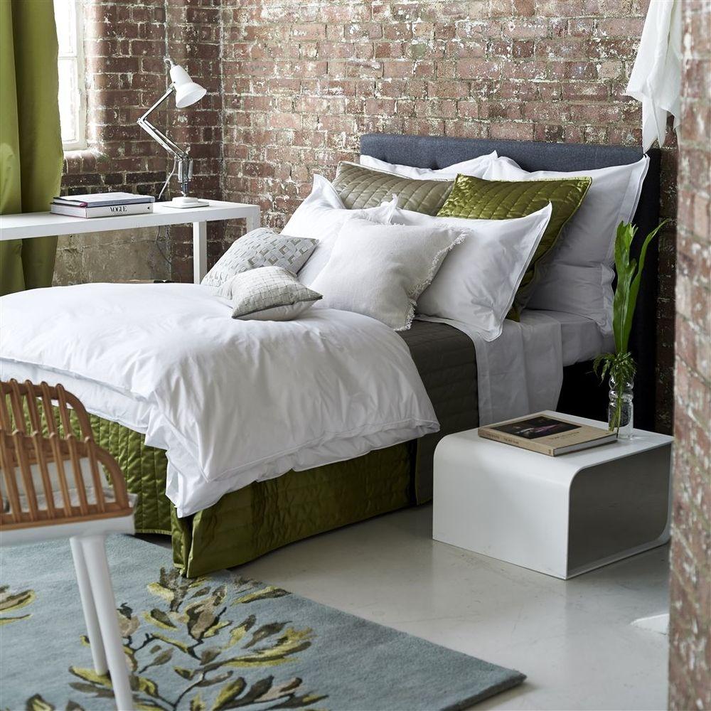 Designers Guild - Astor Bianco Queen Flat Sheet