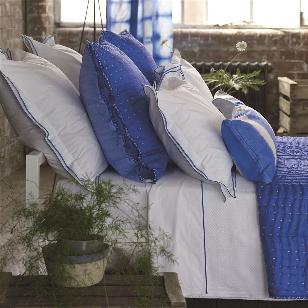 Designers Guild - Astor Cobalt Queen Pillowcase