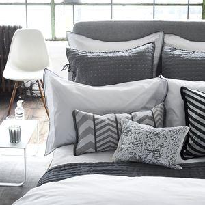 Thumbnail of Designers Guild - Astor Charcoal & Dove Queen Pillowcase