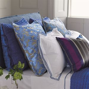 Thumbnail of Designers Guild - Astor Cobalt King Flat Sheet