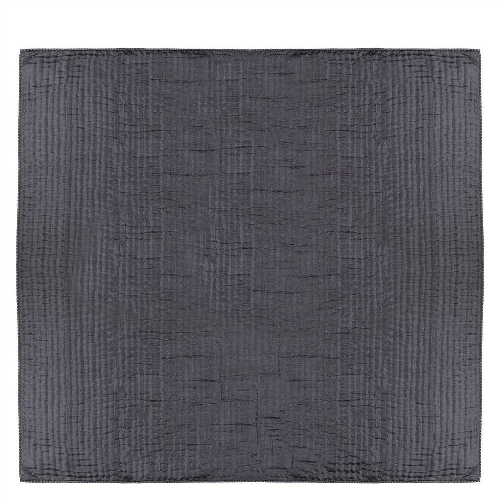 Designers Guild - Chenevard Silver & Slate Standard Quilt