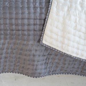 Thumbnail of Designers Guild - Chenevard Silver & Slate Quilt