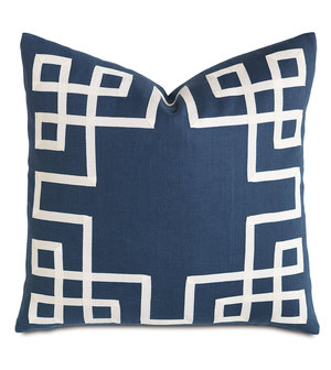 Thumbnail of Eastern Accents - Breeze Indigo with Ribbon Pillow