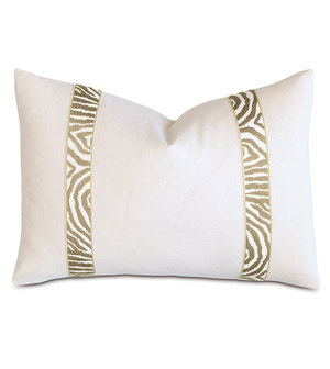 Thumbnail of Eastern Accents - Filly White Pillow with Citron Border