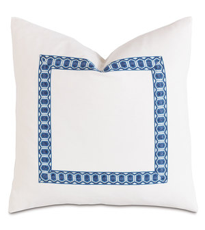 Thumbnail of Eastern Accents - Baldwin White with Border Pillow