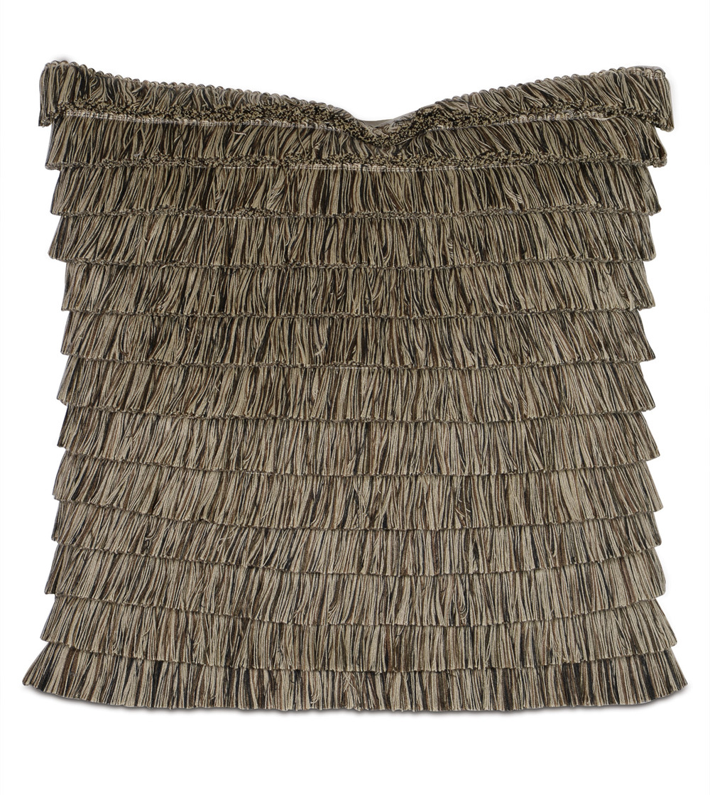 Eastern Accents - Greer Linen Pillow with Brush Fringe