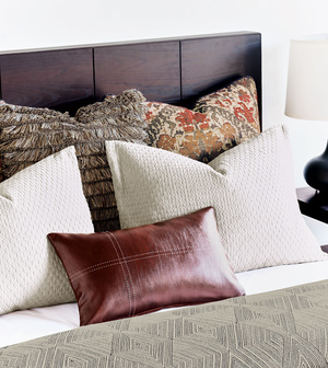 Thumbnail of Eastern Accents - Greer Linen Pillow with Brush Fringe