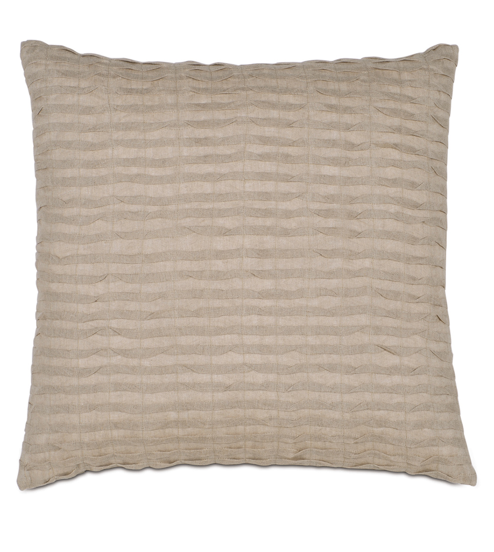 Eastern Accents - Yearling Flax Pillow with Knife Edge