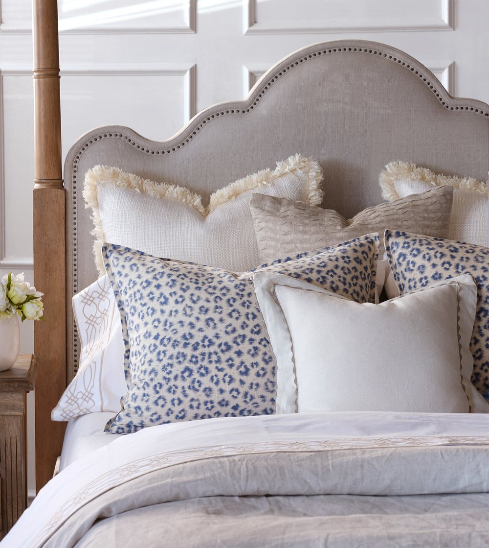 Eastern Accents - Portage White Pillow with Brush Fringe