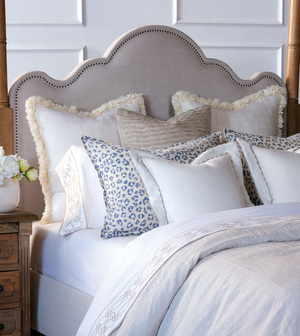Thumbnail of Eastern Accents - Portage White Pillow with Brush Fringe