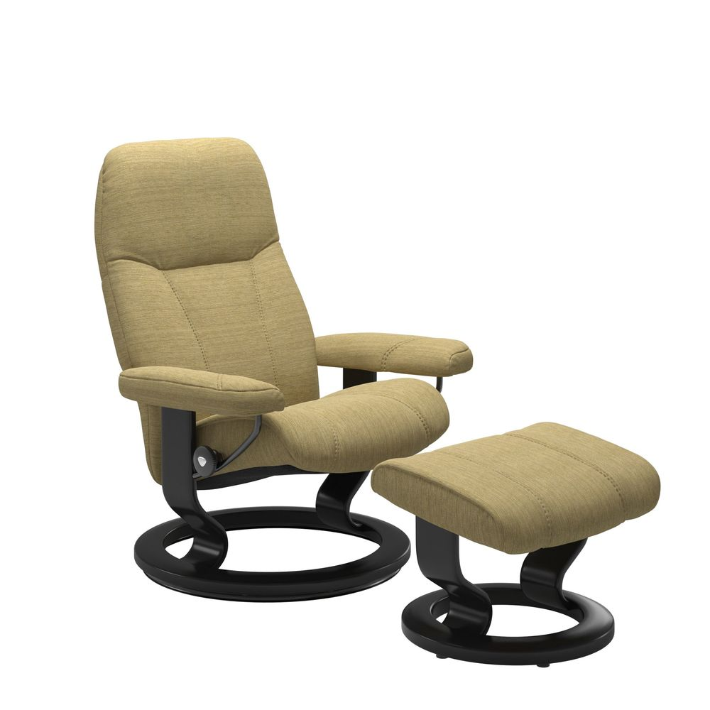 Ekornes - Consul Medium Chair and Ottoman