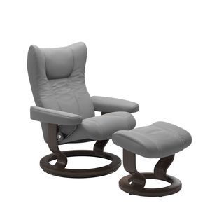 Thumbnail of Ekornes - Wing Small Chair and Ottoman