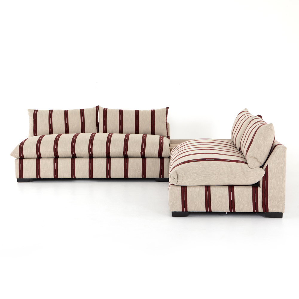 Four Hands - Grant Two Piece Sectional with Corner Table