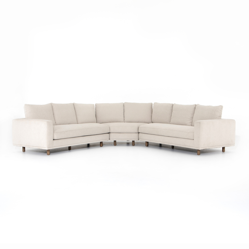 Four Hands - Dom Three Piece Sectional with Small Wedge
