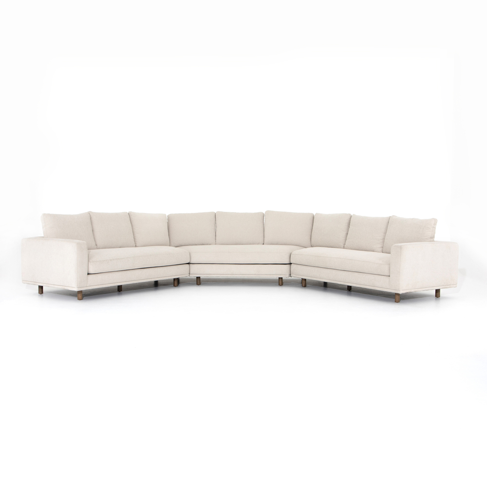 Four Hands - Dom Three Piece Sectional with Large Wedge