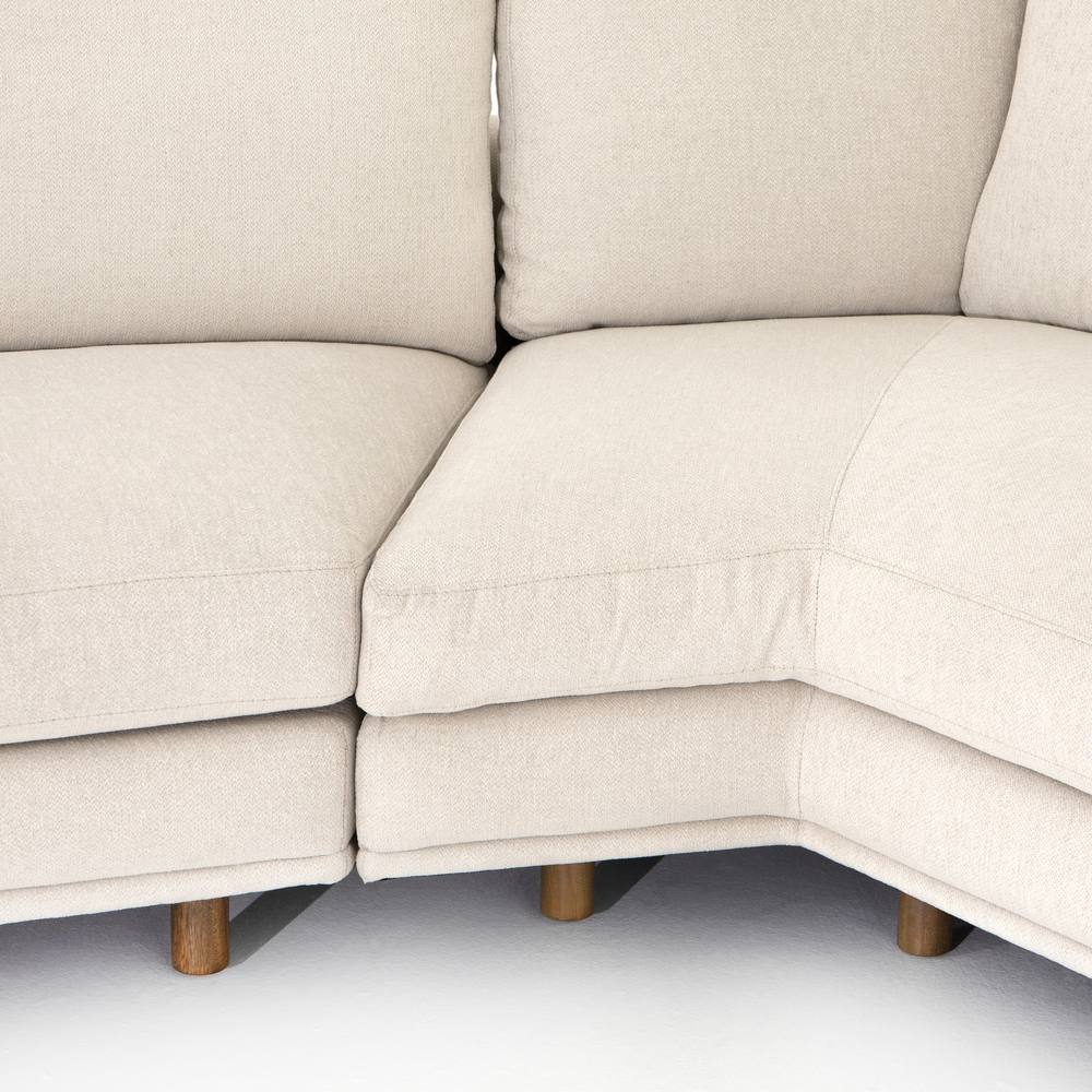 Four Hands - Dom Two Piece Sectional with Right Arm Facing Angled Chaise