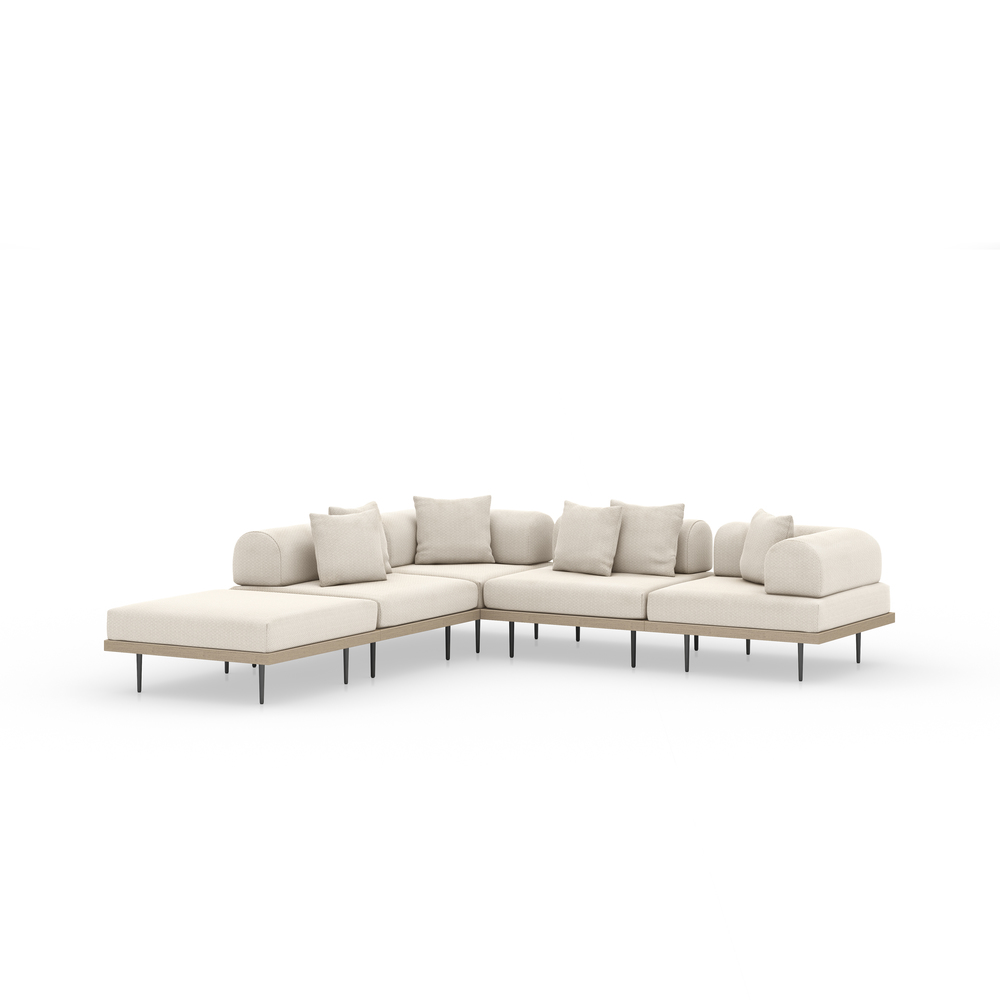 Four Hands - Yves Four piece Sectional with Ottoman