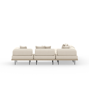 Thumbnail of Four Hands - Yves Four piece Sectional with Ottoman