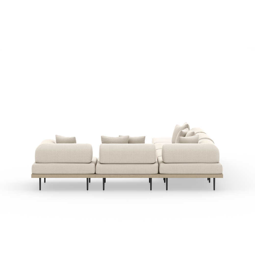 Four Hands - Yves Five piece Sectional with Ottoman