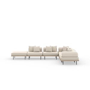 Thumbnail of Four Hands - Yves Five piece Sectional with Ottoman