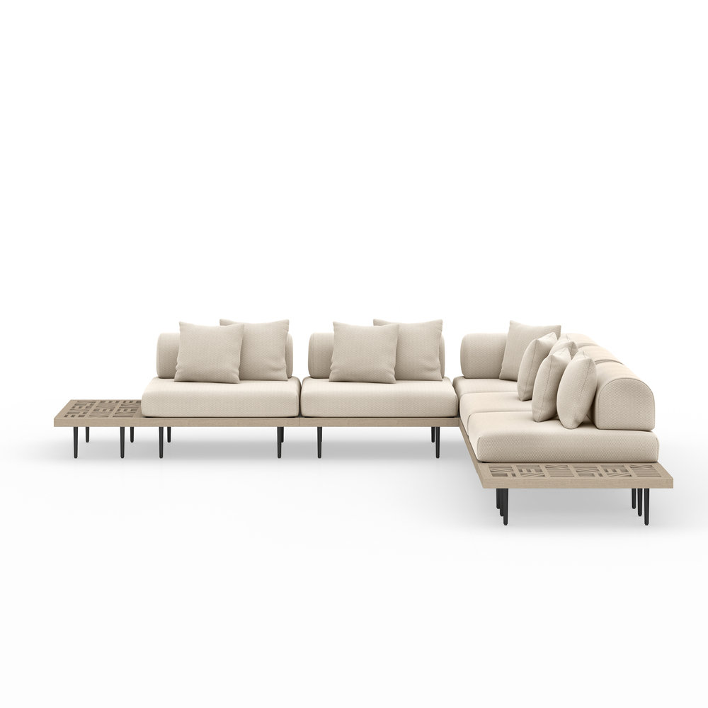 Four Hands - Yves Five piece Sectional with End Table