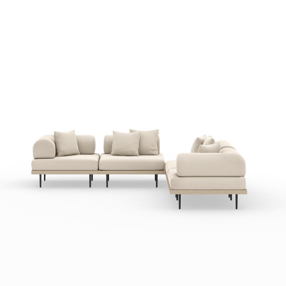 Four Hands - Yves Four piece Sectional with Coffee Table